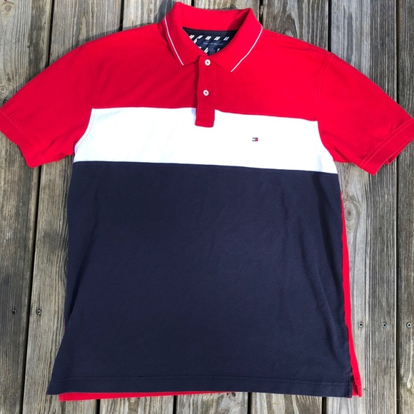 939365e2 Tommy Hilfiger Shirts | Red White And Blue Xl Polo | Poshmark